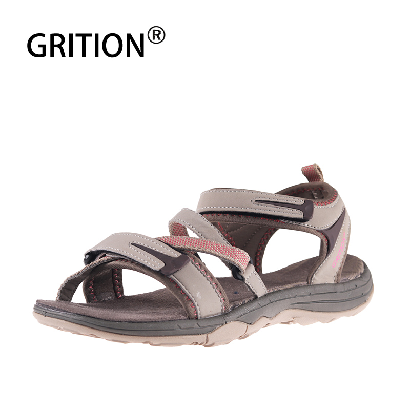 GRITION Outdoor Sandals For Women Summer Webbing Beach Shoes Outdoor Breathable Quick-drying Hiking Sandals Light Women Sneakers
