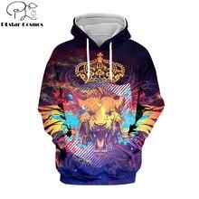 цена на PLstar Cosmos Hot sell casual 3D hoodies/sweatshirts/shirt print the Lion King Simba Men/women's slim long sleeve streetwear-14