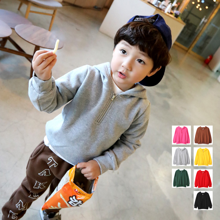 Boys Sweatshirt Hooded Kids Clothes Girls 10-Years Yellow Red Grey Black Spring for 3-4