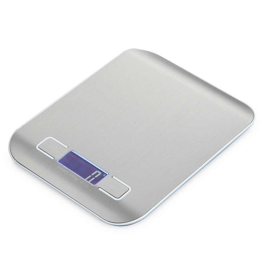HT-2012 Portable Kitchen Digital Scale Stainless Steel Electronic LCD display Food Scales Jewelry Scale 5000g/1g