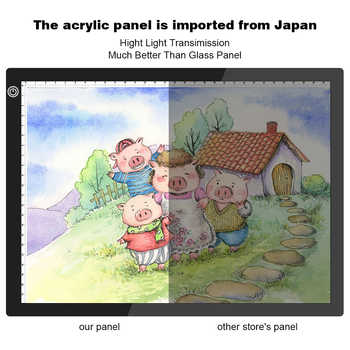 Upgraded Drawing Tablet LED Light Box A4 Graphic Writing Digital Tracer Copy Pad Board Diamond Paint Sketch X-Ray View Dropship