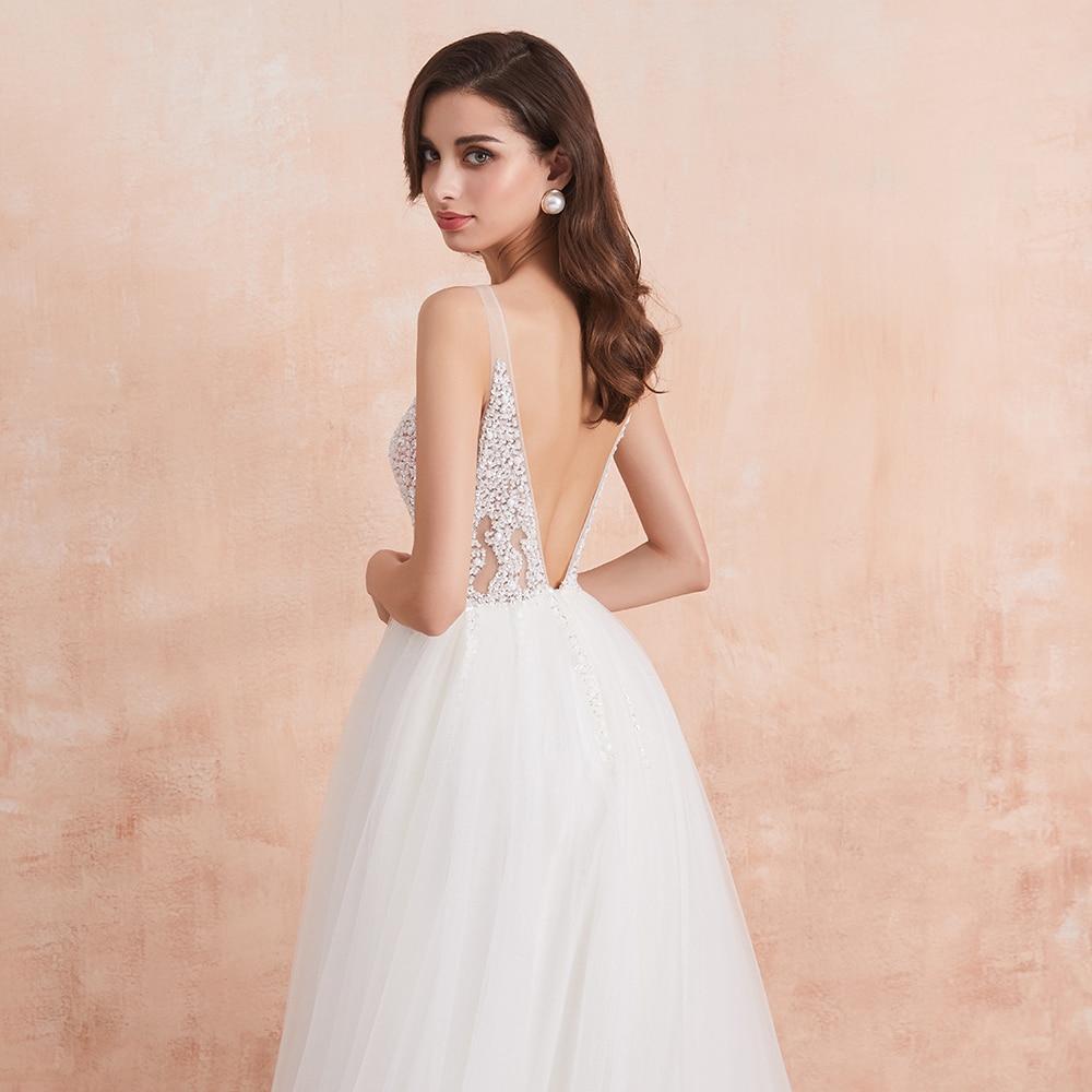 White Ivory Sexy  Bridal Gown Vestido De Noiva 5