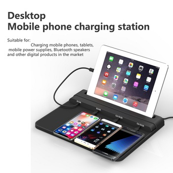 VIPATEY Universal Cell Phone Dock Charging Station 4-Port usb charging station for iPhone iPad Samsung HUAWEI Android Tablets