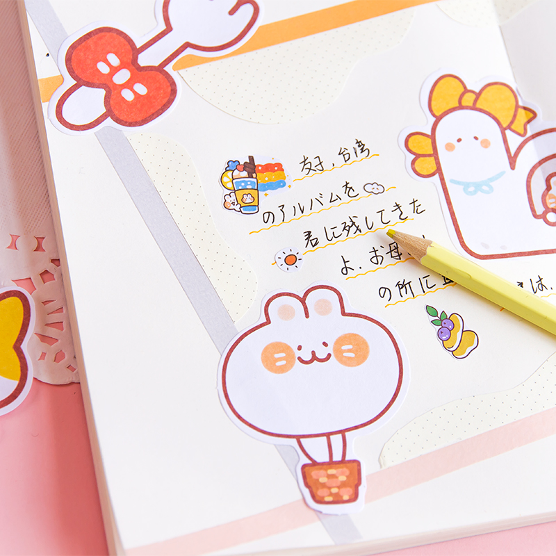 Купить с кэшбэком Journamm 30pcs/lot Message Cute Cartoon Cat Series Notepad Self-Adhesive Memo Pad Note Memo Sticky Stationery Office Supplies