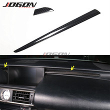 For Lexus IS 250 350 2014 2019 Car Interior Front Console Dashboard Panel Trim Instrument Panel Bright Bar Real Carbon Fiber