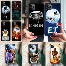 Е. Т. Экстра-наземный чехол для телефона iphone 4 4s 5 5S SE 5C 6 6S 7 8 plus X XS XR 11 12 mini Pro Max 2020 black Etui trend