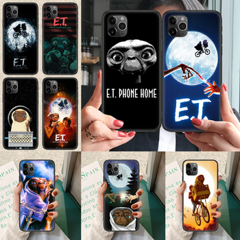 E.T. The Extra-Terrestrial Phone case For iphone 4 4s 5 5S SE 5C 6 6S 7 8 plus X XS XR 11 12 mini Pro Max 2020 black Etui trend image