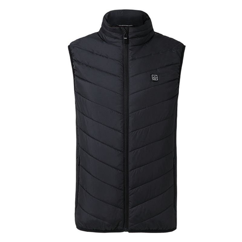 2020 Men Outdoor USB Infrared Heating Vest Jacket Men Women Winter Electric Thermal Clothing Waistcoat For Sports Hiking 2
