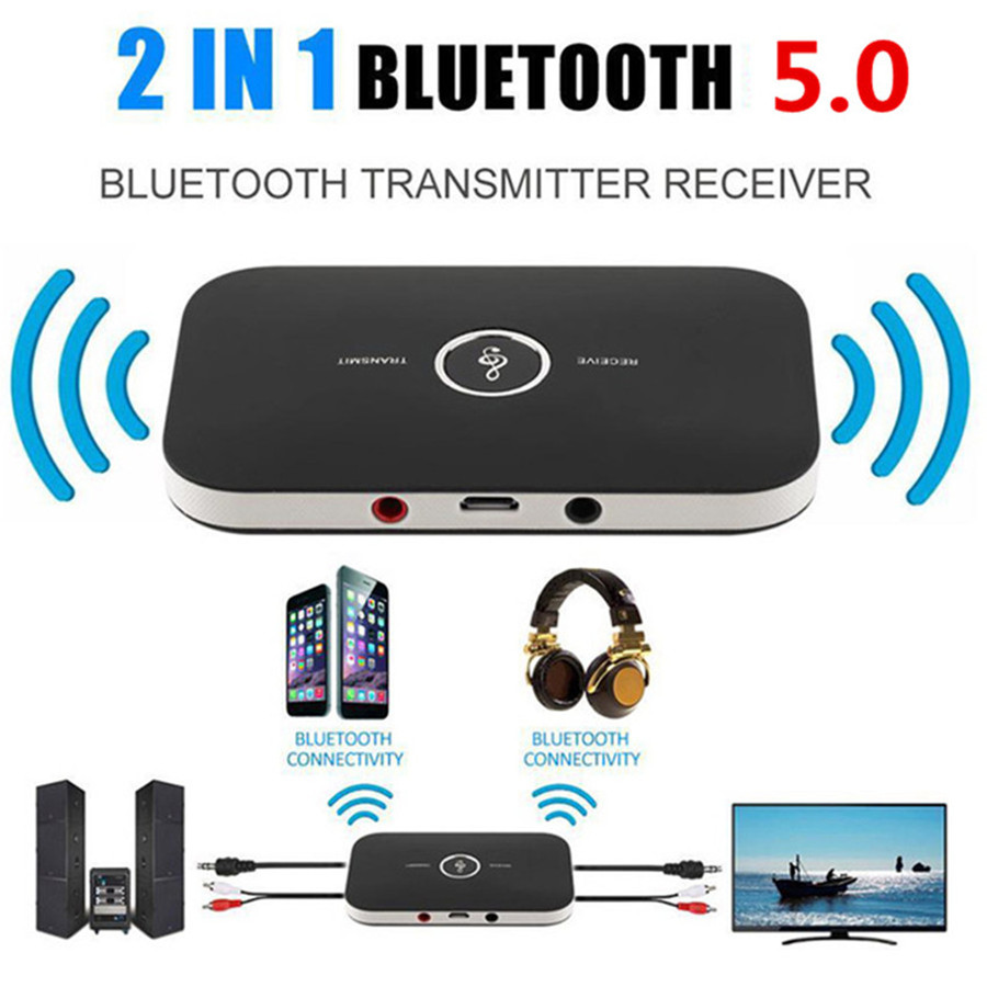 Verbesserte Bluetooth 5,0 Audio Sender Empfänger RCA 3,5mm AUX Jack USB Dongle Musik Wireless Adapter Für Auto PC TV kopfhörer