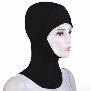 Image 3 - Hiyab gorro hiyab árabe musulmán, para debajo de la bufanda, Bonnet de hueso, pañuelo para la cabeza sólido Ninja, para la cabeza cubierta completa, oración islámica, novedad