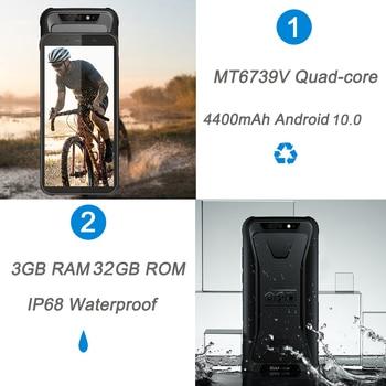 Blackview 2020 New BV5500 Plus Android 10.0 3GB+32GB IP68 Waterproof Rugged Smartphone 5.5'' Full Screen 4400mAh 4G Mobile Phone 4