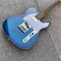 Chrome Hardware Tele Electric Guitar, Blue Boutique Chinese Alder Body Electric Guitar,GRAPH TECH TUSQ Nut,GALLISTRINGS