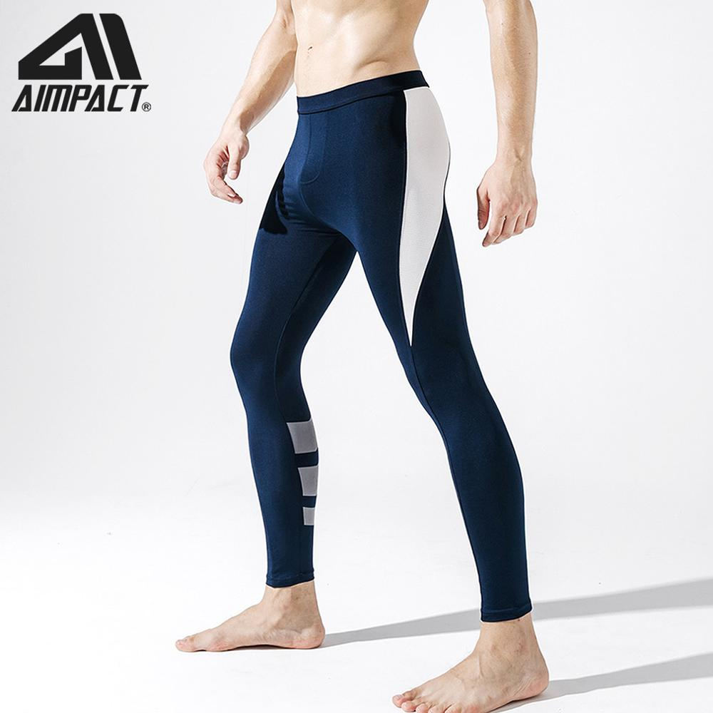 New Pro Athletic Leggings Tight Sport Pants For Men Quick Dry Fitness Workout  Gym Training Running Pants By AIMPACT AM5129
