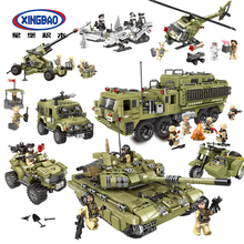 XINGBAO MOC Military Series LegoED Building Blocks Brick toys for Kids Gift Model Kit Educational toys building blocks girls series the heartlake grand hotel model finger brick compatible 41101 educational toys for kids