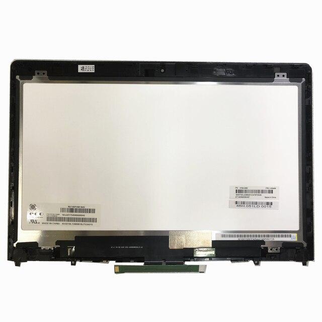 """14.0 """"LCD LED FHD מסך מגע תצוגת לוח Digitizer מכלול שלם Fit Lenovo Thinkpad P40 יוגה 460 NV140FHM N45 Lcd מסך"""