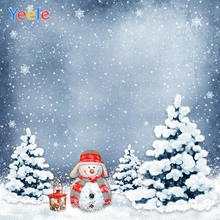 все цены на Yeele Christmas Photocall Snowman Pine Forest Decor Photography Backdrops Personalized Photographic Background For Photo Studio онлайн