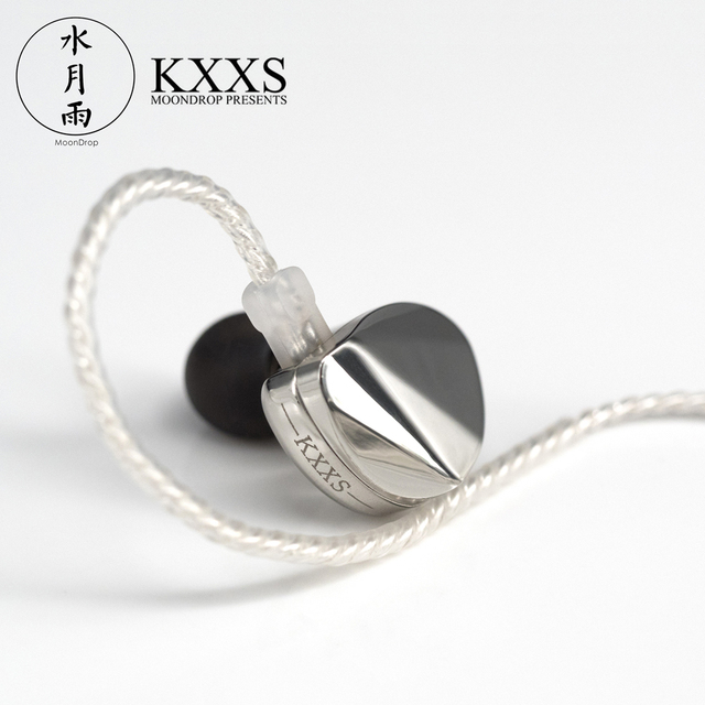 Moondrop KXXS Diamond Like Carbon Diaphragm Dynamic HIFI In Ear Earphone Monitor Stage IEM Earbud Plating Metal Detachable 2Pin 2