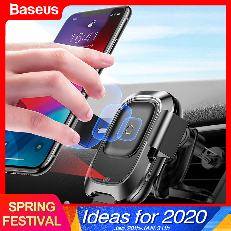 Baseus Qi Car Wireless Charger For iPhone 11 Samsung Xiaomi Car Mount Induction Infrared Fast Wireless