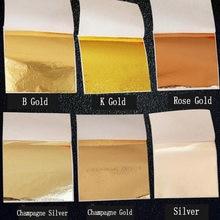 50 feuilles or/argent 9x9cm pratique K Pure feuille d'or brillant pour dorure lignes de meubles mur artisanat artisanat dorure décor