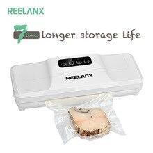 Вакуумный упаковщик REELANX V1 160 Вт, вакуумная упаковочная машина для продуктов питания с 15 пакетами, лучший вакуумный упаковщик, Упаковочная упаковка