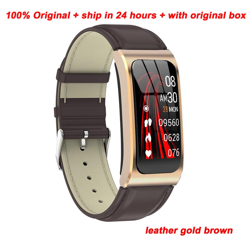 Leather strap gold