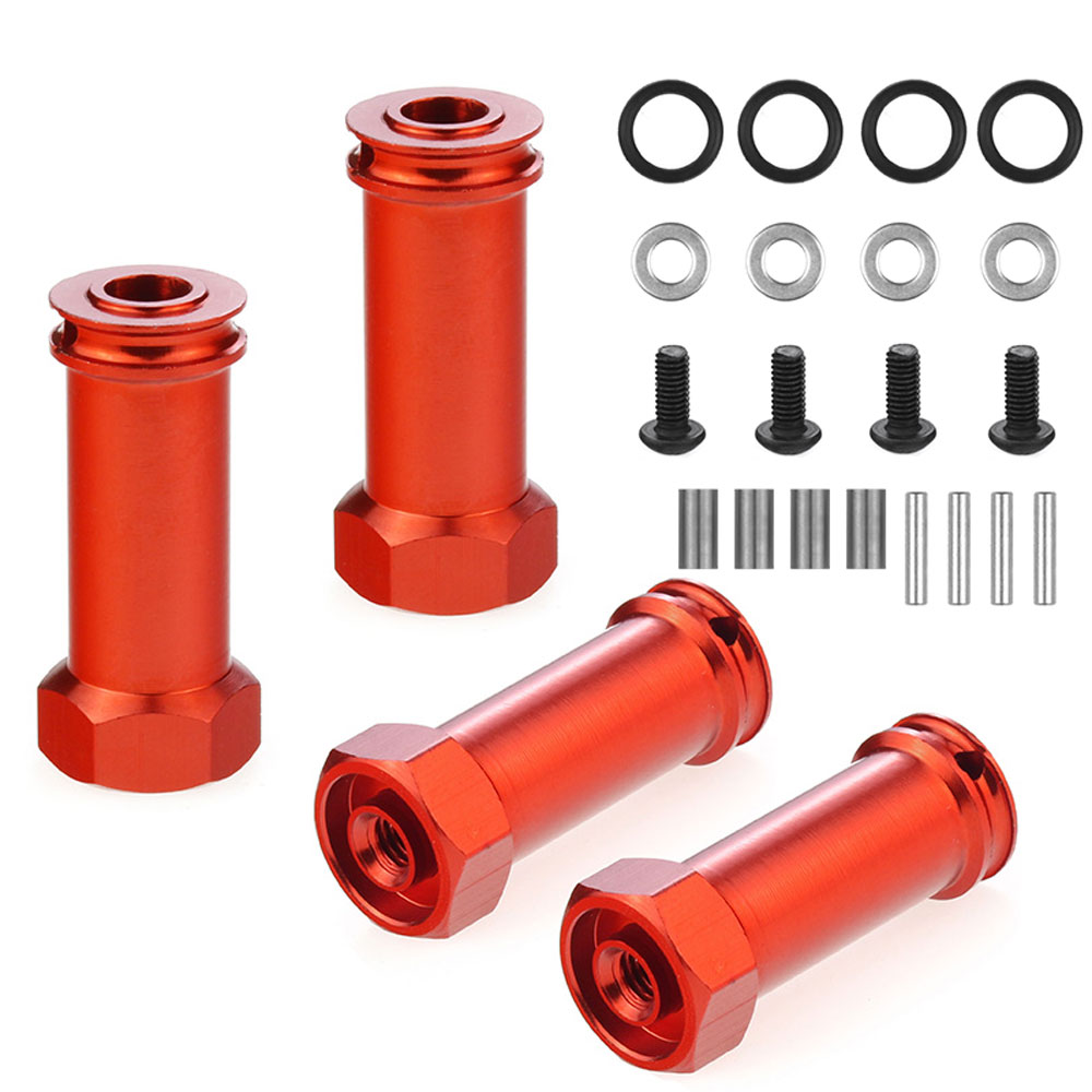 12mm Aluminum <font><b>Wheel</b></font> Hex Hub Adapters Long 30mm Adaptor Extension Combiner Coupler RC Car Parts for 1/12 <font><b>Wltoys</b></font> <font><b>12428</b></font> 12423 image
