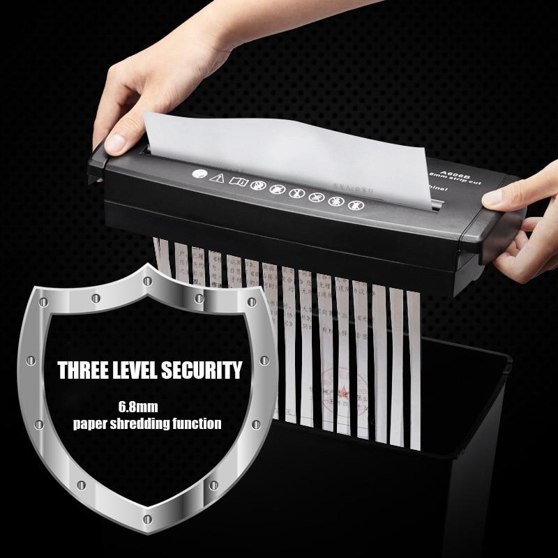 New Leisheng A606b Paper Shredder Small Mini Office Paper Shredder Household Electric Strip Paper Shredder Business Office