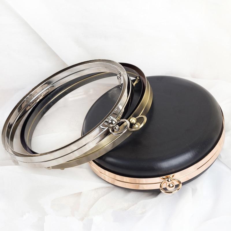 Round Shape Metal Box Purse Frame Handle Purse Handle Hardware Wholesale Bag Accesories For Handbags Bag Strap Metal Purse Frame