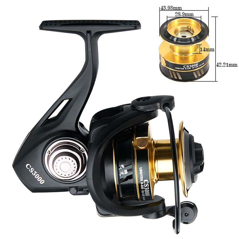 2019 13kg 13BB  Spinning Reel 5:1 Fishing Full Metal spool reel for fishing  gear Fishing reel closed Baitcasting Reel