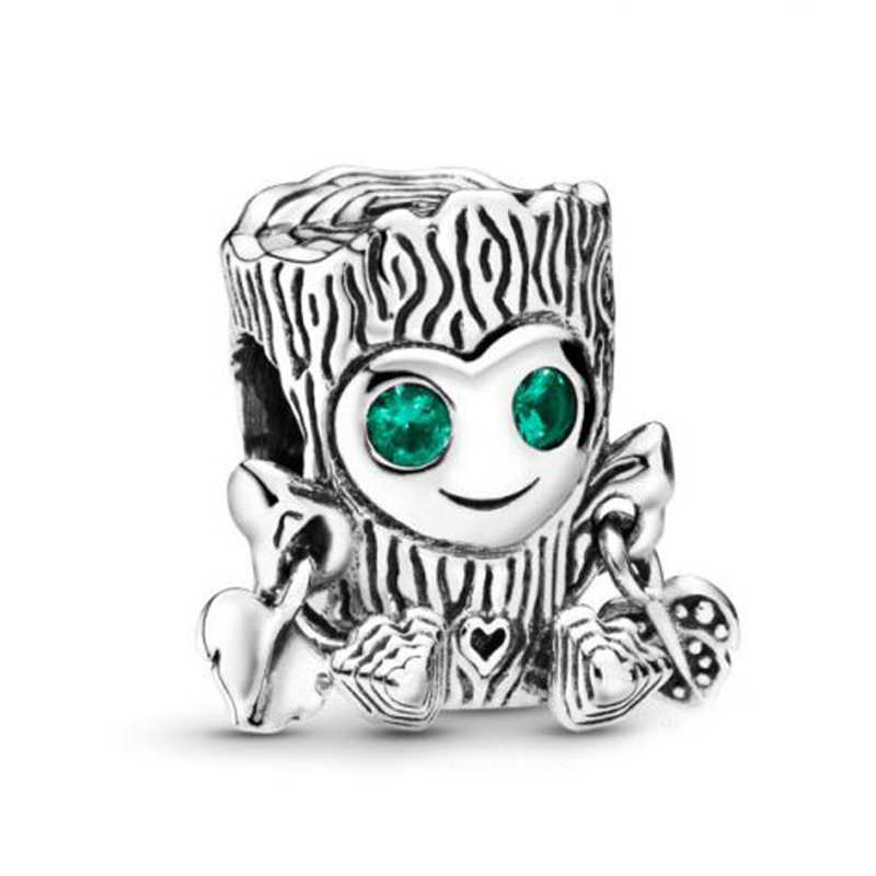 PANDULASO Fashion Silver Sweet Tree Monster Charm Charm Fit Pandora Charms Bracelet Silver 925 Original Beads For Jewelry Making