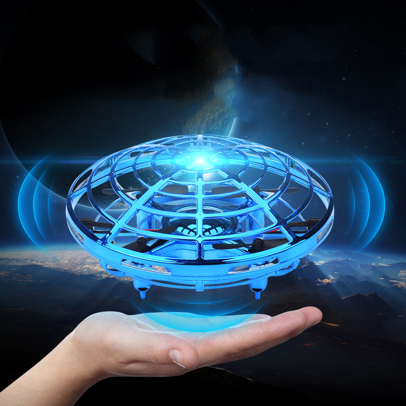 Flying Ball LED Luminous UFO Drone Anti-collision Flight Balls Magic Electronic Infrared Induction Aircraft Remote Control Toys
