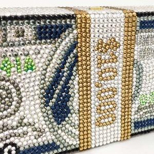 Image 4 - Boutique De FGG Hand Made STACK OF CASH Dollarเงินผู้หญิงกระเป๋าคลัทช์คริสตัลกระเป๋าค็อกเทลDinner Pursesและกระเป๋าถือ