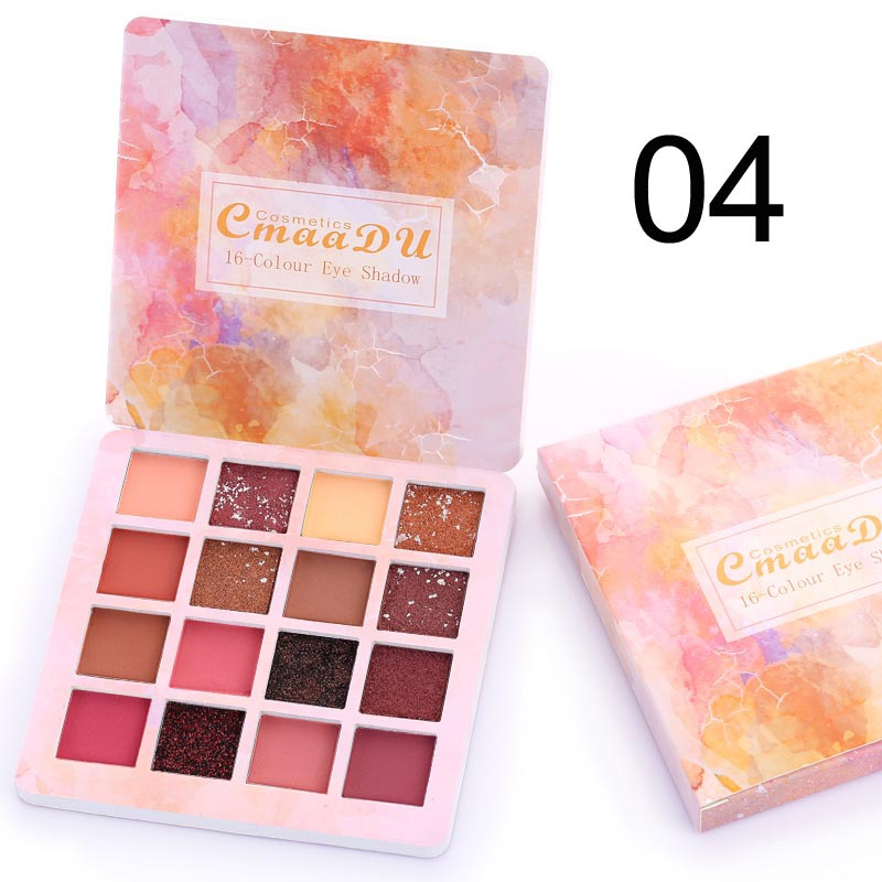 16 Colors Metal Matte Eyeshadows Pallete Makeup Shimmer Pigmented Eye Shadow Palettes Diamond Make Up Palette Maquillage TSLM2 5