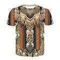 Повседневная Красочная новая модная забавная футболка с 3D принтом в стиле Харадзюку с индийской родной культурой, футболка унисекс, мужска...