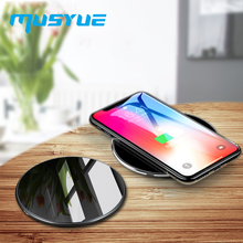 Musyue 15W QI Wireless Charger For Samsung Note 10 iPhone XR Xs Xiaomi Huawei Charging 15w Fast Phone