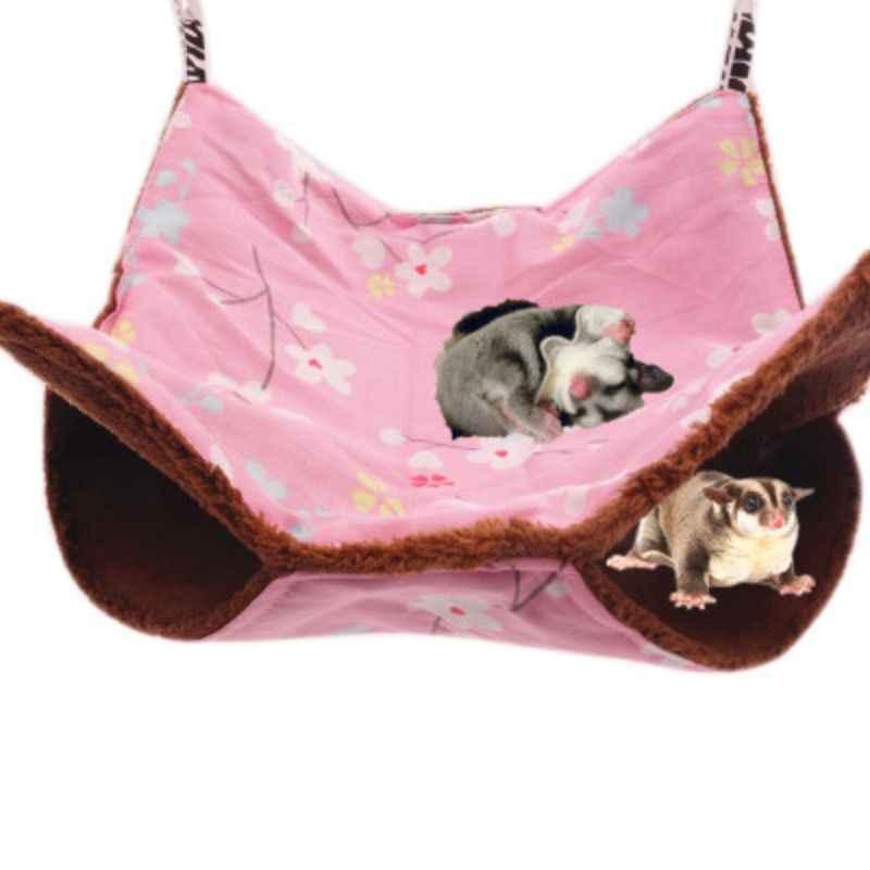 Pet Criceto Letto Nido Scoiattolo Amaca Doppia Velluto di Cotone Appeso Caldo Morbido Criceto House Bed Nido di Piccole Dimensioni Forniture Per Animali Da Compagnia