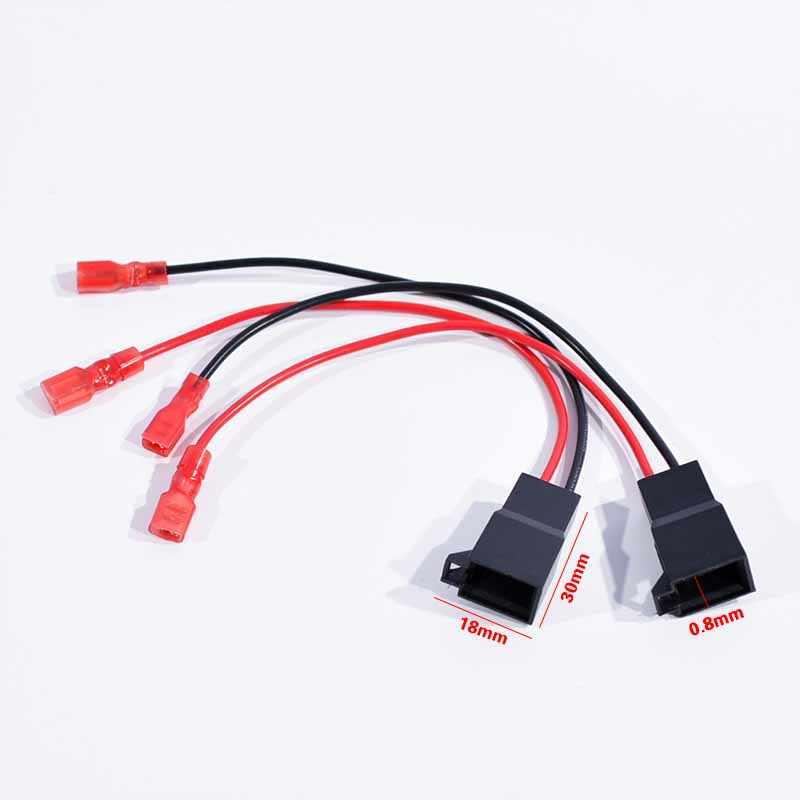 Pair Car Radio Speaker Adaptor Connector Wire For Vauxhall Renault VW Nissan