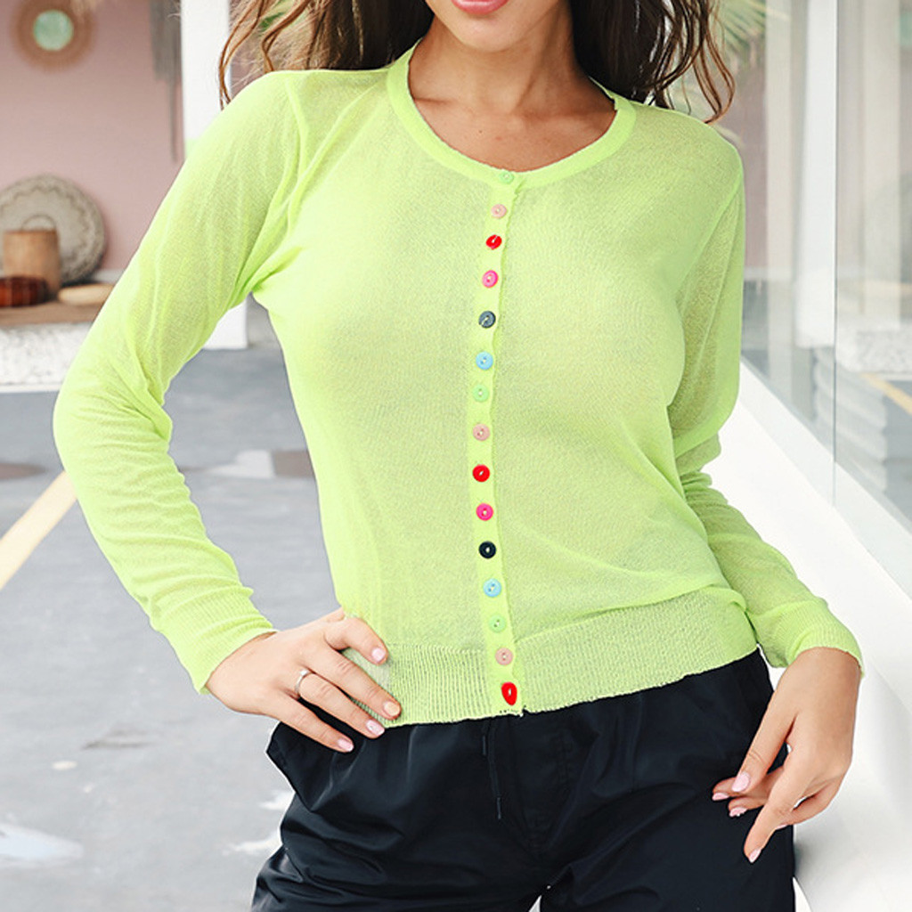 Women's Winter Slimming Sweater Long Sleeve Solid Button Top Blouse ropa de mujer oto o invierno 2020 chompas de mujer invierno