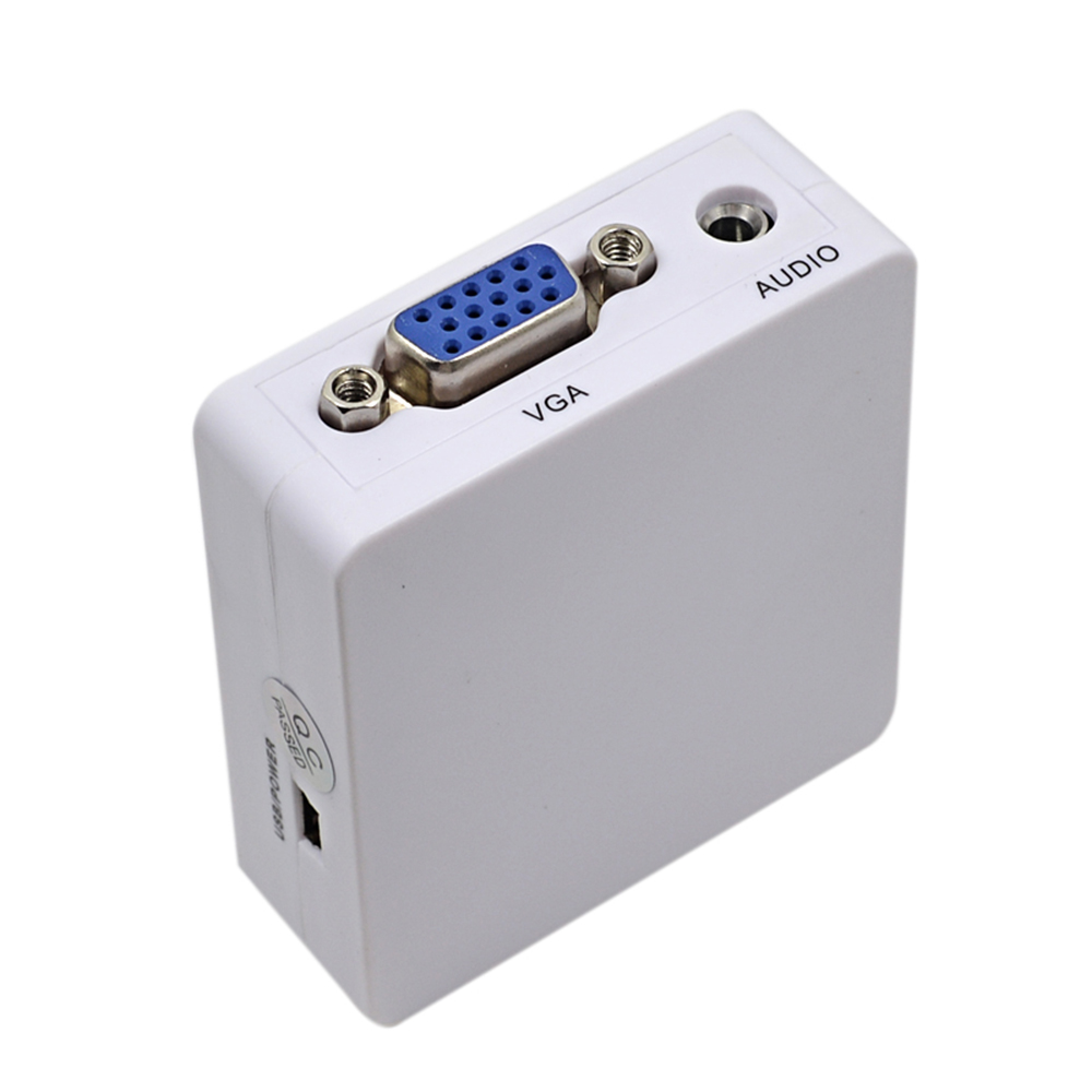 H5e32e54e308942fb896ac6adf699e0aci Original HD 1080P MINI HDMI to VGA Converter With Audio HDMI2VGA Video Box Adapter For Xbox360 PC DVD PS3 PS4