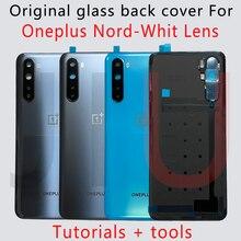 100% ใหม่สำหรับ OnePlus Nord แบตเตอรี่ฝาครอบด้านหลังเคสประตูด้านหลังแบตเตอรี่พร้อมกาว OnePlus nord
