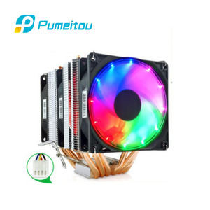 Pumeitou AMD Intel CPU Fan RGB Support 3 pin 4 pin Heat Pipe Aluminum cooler New