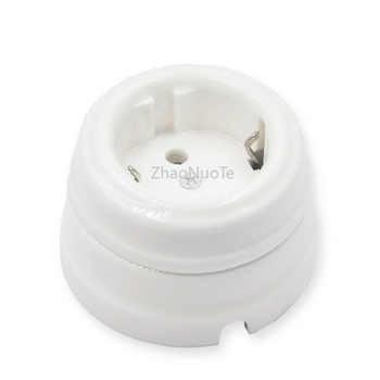 4pcs High-quality European Ceramics Socket Home Improvement EU Wall Electric Outlet Socket
