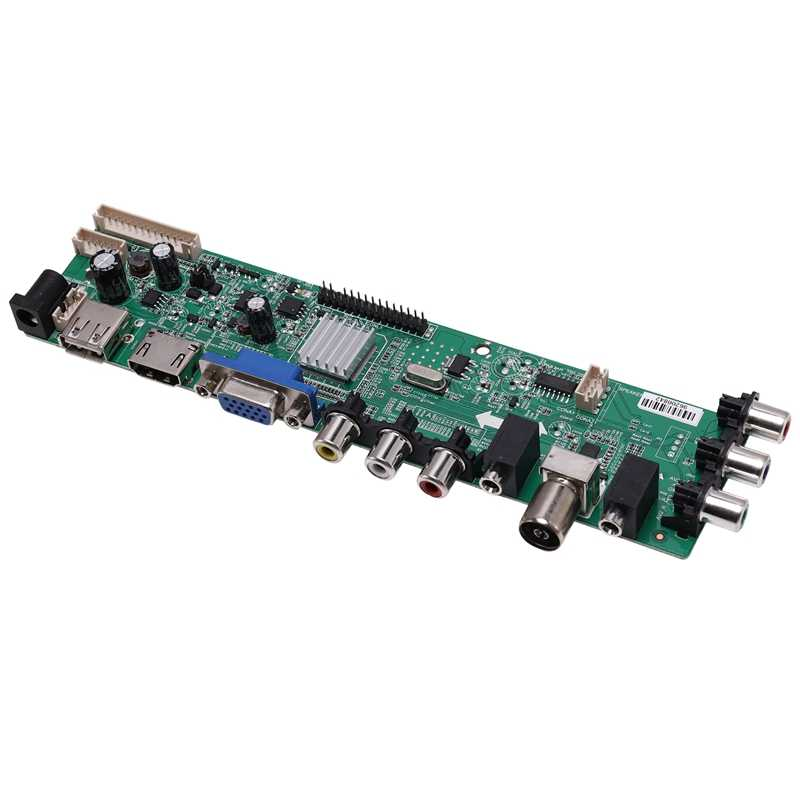 DS. D3663LUA. A81 DVB-T2/T/C التلفزيون الرقمي 15-32 بوصة لوحة تحكم شاملة في التلفزيون الإل سي دي التلفزيون تحكم لوحة للقيادة ل 30Pin 2Ch ، 8 بت (الاتحاد الأوروبي التوصيل)
