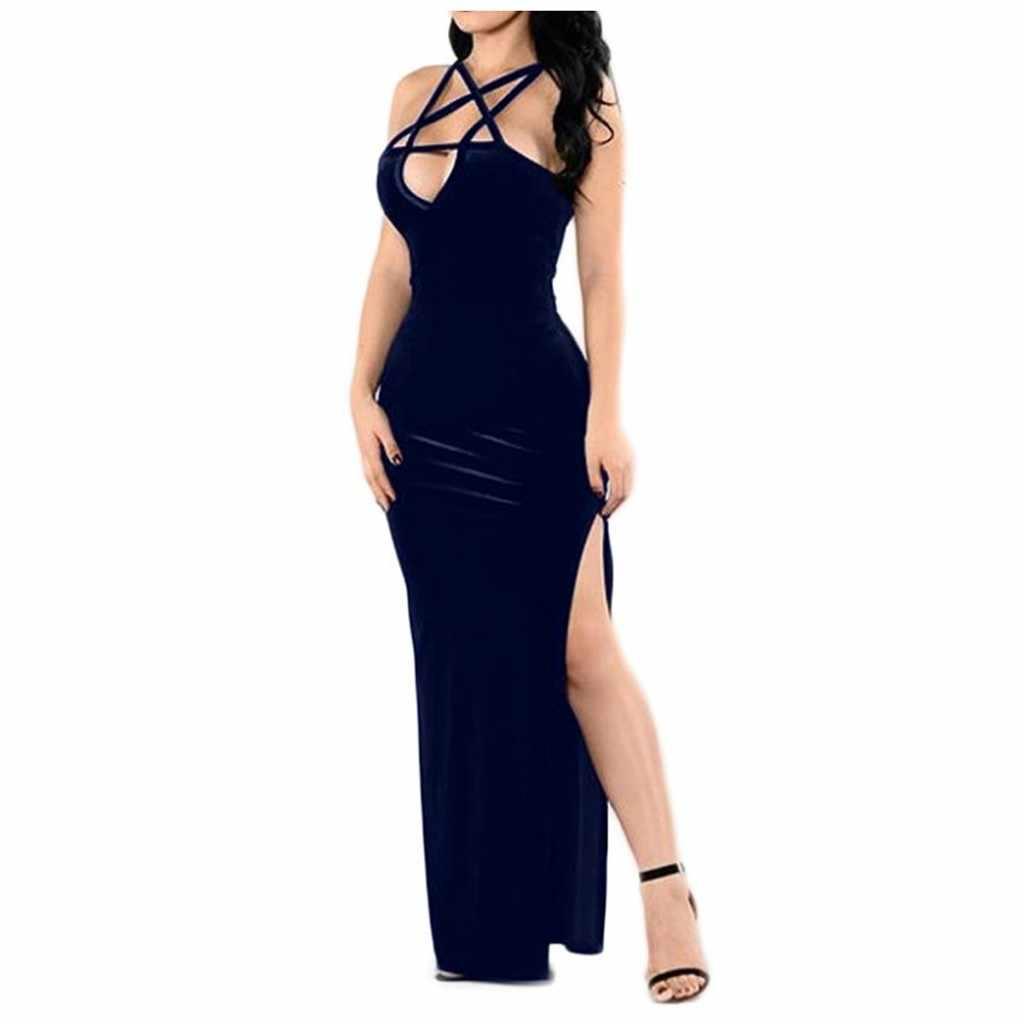 40 @ ผู้หญิงแน่นแขนกุดฤดูร้อนชุดสีสายคล้อง Strappy ชุดเซ็กซี่แฟชั่น shein платье женское vestidos