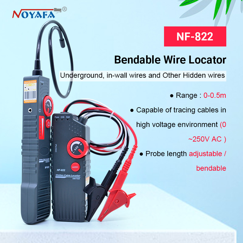 Noyafa Nf-822 Underground Cable Locator 0-0.3m Depth Cable Length Tester 1000m For High Voltage Wire Detecting NF_822