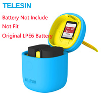 TELESIN ALLIN BOX Muti-Functional LPE6 Battery Charger & SD Card Reader Storage Case for Canon EOS 5D Mark II III 6D 7D 80D