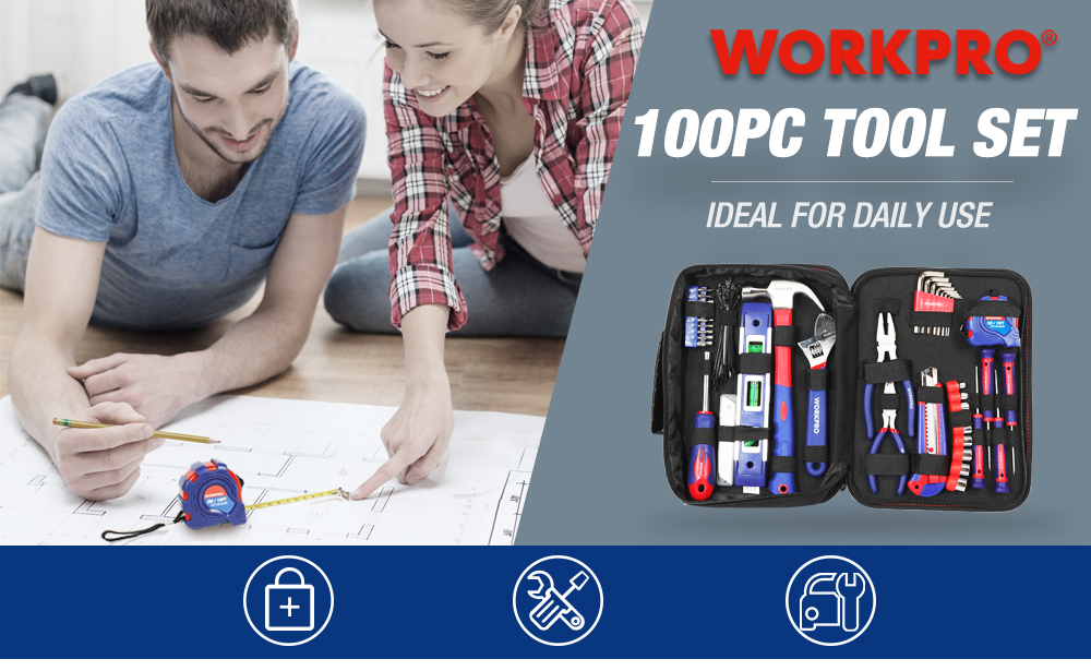 WORKPRO 100PC Tool set