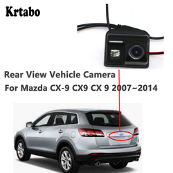 Krtabo Malam Visi Mobil Rear View Back Up Reverse Parkir Kamera untuk Mazda CX-9 CX9 CX 9 2007 2008 2009 2010 2011 2012 2013 2014