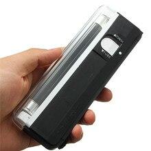 6 в портативный на батарейках Ультрафиолетовый фонарь 2в1 мигающий фонарь, черный светильник, УФ-светильник, лампочка, ручной детектор денег