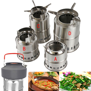 Image 5 - 1 Pcs Camping Lightweight Stove Foldable Windproof Wood Burning Stove for Outdoor Picnic BBQ Cooking Camping